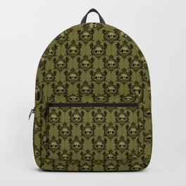 Halloween Damask Olive Backpack