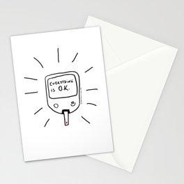 Diabetes: Everything is O.K. Diabetes Stationery Cards