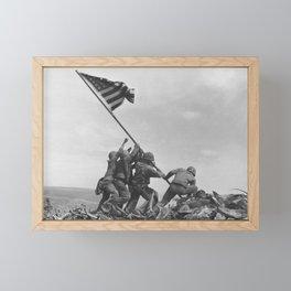 Raising The Flag On Iwo Jima Framed Mini Art Print