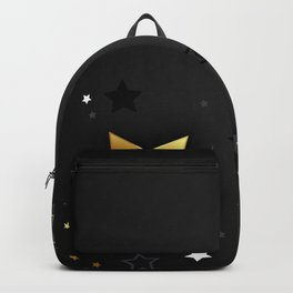 Gray Background with Black Stars Backpack