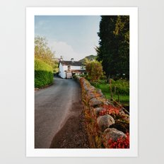 A Country Lane Art Print