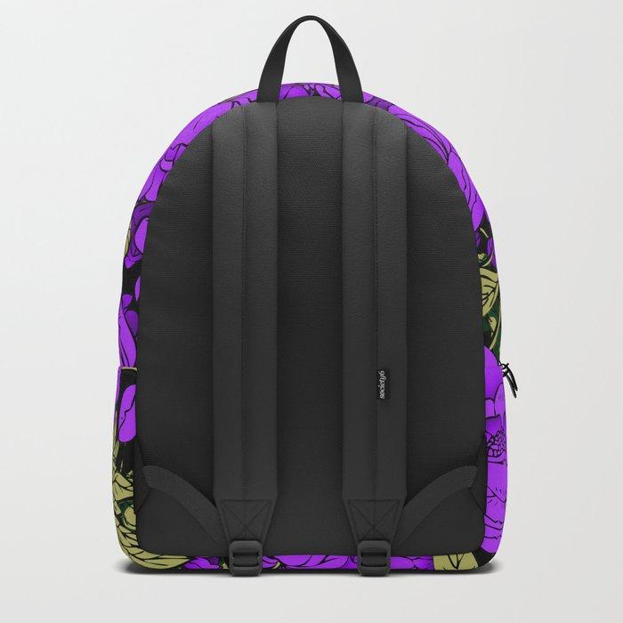 Purple Peonies Backpack