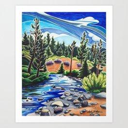 Between Water and Sky Art Print