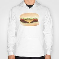 hamburger Hoodies featuring Hamburger by Tyler Keff Beasley