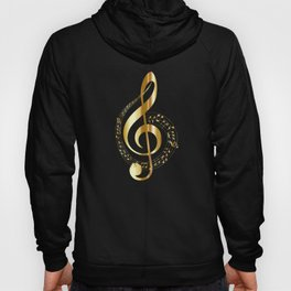 Treble clef surrounded by melody Hoody