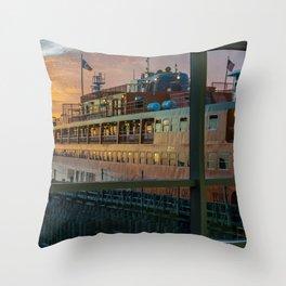Ferry Docked (Staten Island Ferry) Throw Pillow
