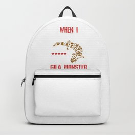 Alligator Herpetology Reptiles Cold Blooded Animal Gift When I Grow Up I Want To Be A Gila Monster Backpack