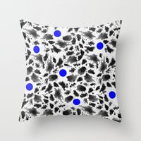 blur Throw Pillows featuring BLUR by HENRIPRINTS