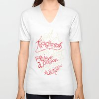 paper towns V-neck T-shirts featuring Paper Towns- Treacherous by deducktion