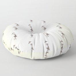 Umbrella Girl - Hand drawn design Floor Pillow