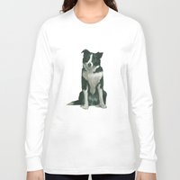 border collie Long Sleeve T-shirts featuring border collie by phil art guy