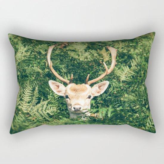 deer cerf 4 Rectangular Pillow