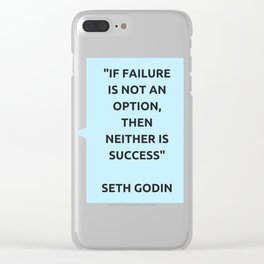 SUCCESS - SETH GODIN MOTIVATIONAL QUOTE Clear iPhone Case