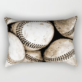 Bucket of baseballs Rectangular Pillow
