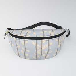 Pussy Willow Branches on Soft Grey Fanny Pack