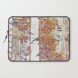 Birch Trees Watercolor 01 Laptop Sleeve
