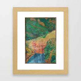 oil pastel on linen Framed Art Print