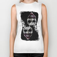 psycho Biker Tanks featuring psycho by arTistn