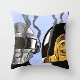 Daft Punk Deux Throw Pillow