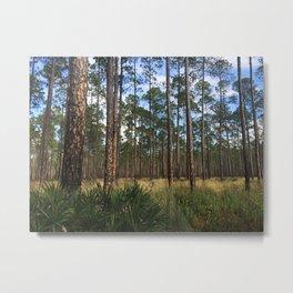 Pines III Metal Print