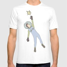 Star from the sky White MEDIUM Mens Fitted Tee