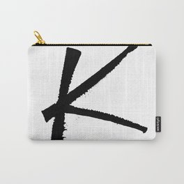 Letter K Ink Monogram Carry-All Pouch