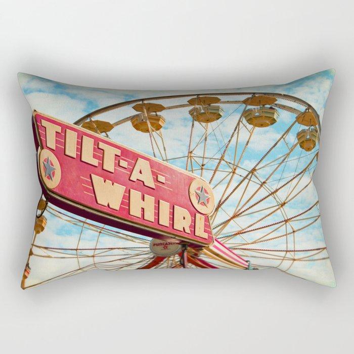 tilt-a-whirl Rectangular Pillow