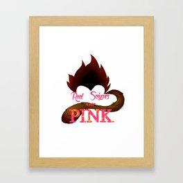 Real Saiyans Wear Pink Framed Art Print