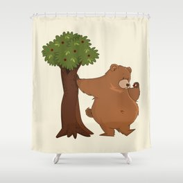 Bear and Madrono Shower Curtain