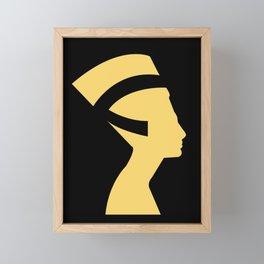 -BEQUEEN IN GOLD Framed Mini Art Print