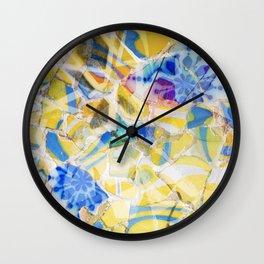 Mosaic of Barcelona II Wall Clock