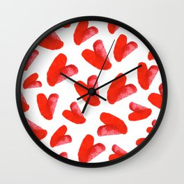 Red love Wall Clock