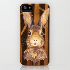 Rabbit in the forest- abstract animal hare watercolor illustration Slim Case iPhone (5, 5s)