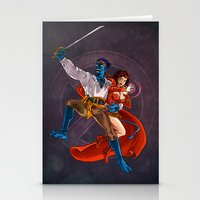 nightcrawler Stationery Cards featuring Nightcrawler & Scarlet Witch by Studio Acramill