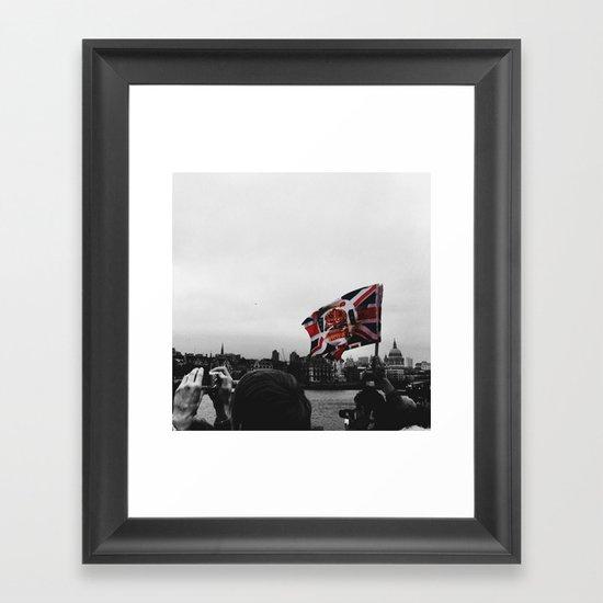 Jubilee Flag Framed Art Print