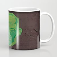 android Mugs featuring Android Dreams by Doodle Dojo