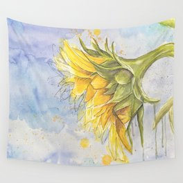 Helianthus annuus: Sunflower Abstraction Wall Tapestry