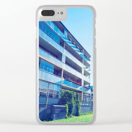 Apartment residential buildings with outdoor facilities Clear iPhone Case