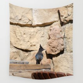 Resident Jay - North_Rim Grand_Canyon Lodge Wall Tapestry