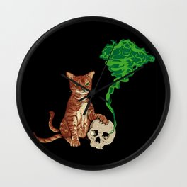 Nekomata cat Wall Clock