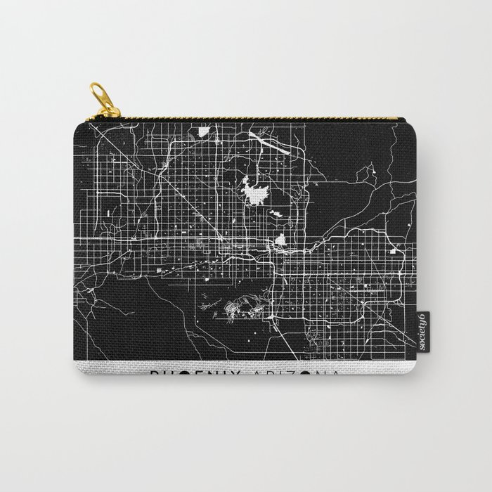 Phoenix Map With Coordinates Carry-All Pouch