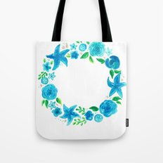 Key West Beachy Wreath Tote Bag