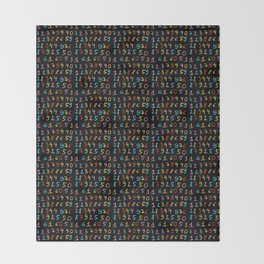 number 6- count,math,arithmetic,calculation,digit,numerical,child,school Throw Blanket