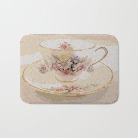 Tea | Daisy Vintage Teacup | Nadia Bonello Bath Mat