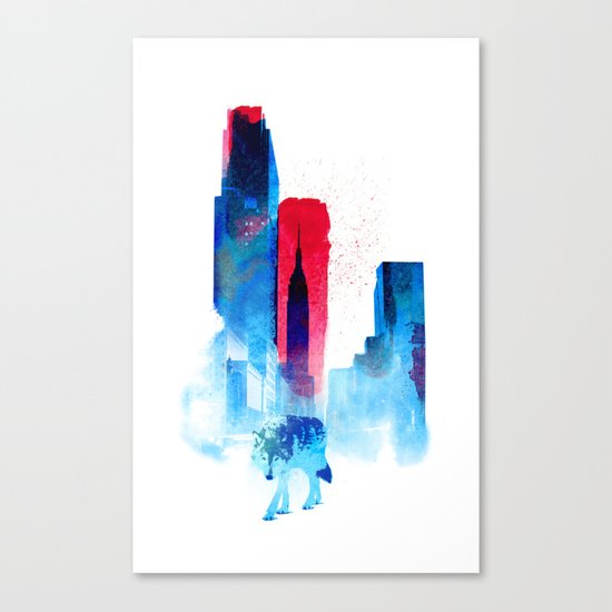 The wolf of the City Canvas Print