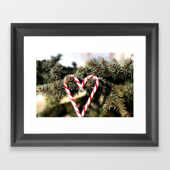 Candy Cane Love Framed Art Print
