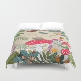 Toadstools in the Woods Duvet Cover