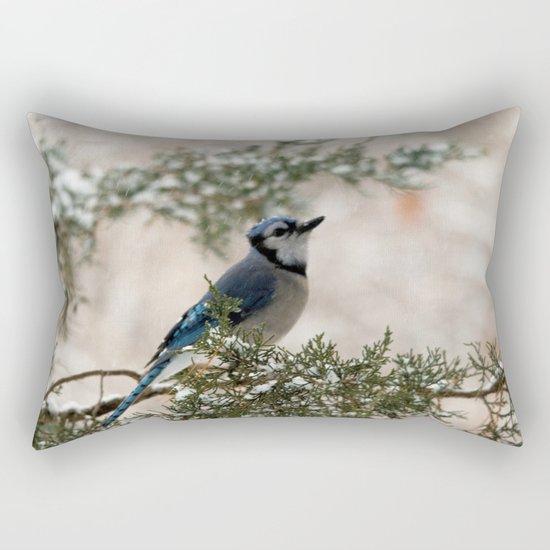 Look to the Sky (Blue Jay) Rectangular Pillow