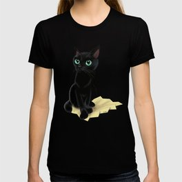 Black little kitty T-shirt