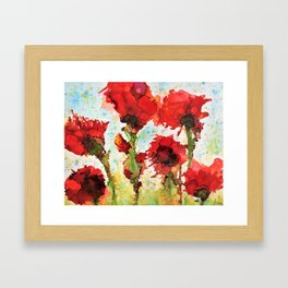 flowers in the wind Framed Art Print